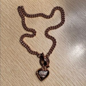 Juicy Couture Rose Gold Locket Necklace
